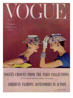 21-10-10 Vogue Cover - March 1954 by Richard Rutledge