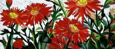 Ola Palacz, mosaic flowers