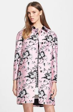 Diane von Furstenberg 'Amana' Floral Print Wool & Silk Coat available at #Nordstrom