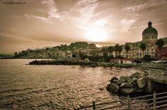 Sunset on Pegli - Un tramonto estivo nel lungomare di Pegli, Genova