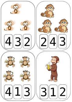 Spring Count and Clip Cards: Numbers Kindergarten Math Activities, Kindergarten Worksheets, Math Classroom, Math Games, Preschool Activities, Numbers Preschool, Math Numbers, Touch Math, Math For Kids