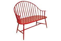 OMG - this is a piece I'd die for!  Kieran Bench, Red