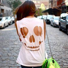 #moda #caveira #branca