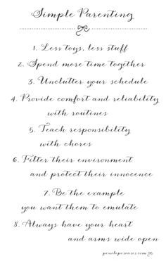 Simple parenting rules #love #quotes