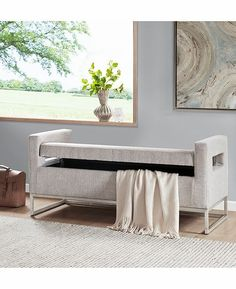 Madison Park Crawford Solid Wood, Polyester Fabric Toy Chest Bench Modern Style Ottoman With Storage, Grey Bedroom Storage Chest, Furniture, Storage Bench Bedroom, Entryway Bench Storage, Bedroom Storage, Upholstered Storage, Modern Storage Bench, Modern Storage, Ikea Bedroom Storage