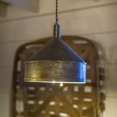 Industrial farmhouse cool! This galvanized funnel pendant light is a steal at justt $22! www.pallensmith.com