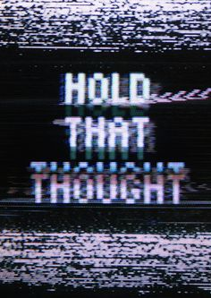 Hold That Thought by Alex Beltechi, via Behance