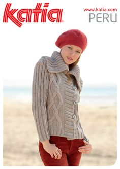 Ladies Cable Cardigan in Katia Peru - Discover more Patterns by Katia at LoveKnitting. The world's largest range of knitting supplies - we stock patterns, yarn, needles and books from all of your favorite brands. Knitting Yarn, Hand Knitting, Knitting Patterns, Crochet Patterns, Knit Crochet, Crochet Hats, Cable Cardigan, Winter Jackets Women, Fashion Moda