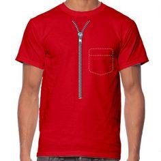 Urban creative tshirt desing zipper pocket t-shirt