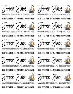 Jitter Juice Labels