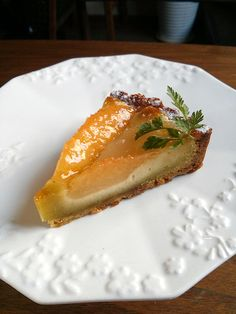 Grapefruit and pear tart.