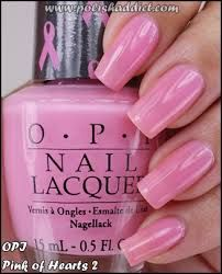 OPI Pink of Hearts 2 All ready for October and Breast Cancer Awareness Month How To Do Nails, Fun Nails, Nice Nails, Gorgeous Nails, Pretty Nails, For Your Nails Only, Opi Pink, Opi Polish, Heart Nails