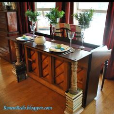 piano bar :) - something like this with a larger granite top for a kitchen Island!  and a working piano!  COOL