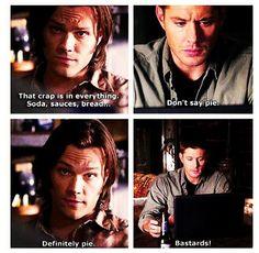 Dean loves his pie!