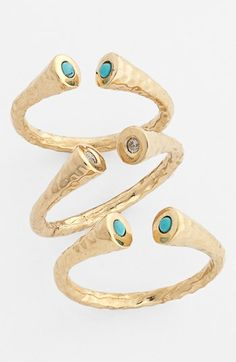 Melinda Maria 'Penny' Stackable Rings (Set of 3) (Nordstrom Exclusive) available at #Nordstrom
