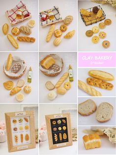 ご紹介いただきました♪ Cute Polymer Clay, Polymer Clay Miniatures, Polymer Clay Crafts, Diy Clay, Resin Crafts, Miniature Crafts, Miniature Food, Miniature Dolls, Small Bakery