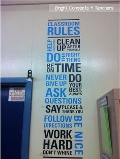 Nice classroom design, great way to make your classroom rules look great and stand out!