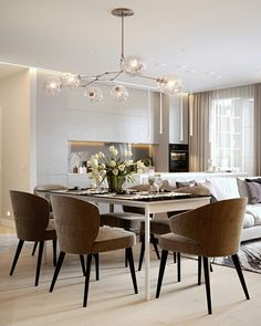 Dining room furniture ideas that are going to be one of the best dining room design sets of the year! Get inspired by these dining room lighting and furniture ideas! Contemporary Home Decor, Modern Interior Design, Kitchen Contemporary, Modern Interiors, Contemporary Design, Dining Room Design, Dining Room Furniture, Furniture Ideas, Design Furniture