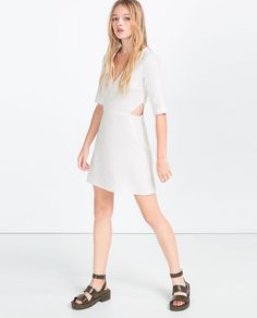 Image 1 of DRESS WITH CUT-OUTS from Zara