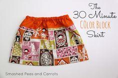 30 minute color block skirt