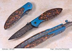 Llannoite handles make this Bill Keller art knife a true thing of beauty.