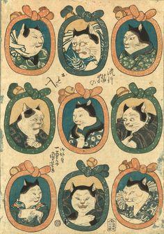 歌川国芳《流行猫のおも入》天保(1830-1844年)後期歌川国芳《流行猫のおも入》天保(1830-1844年)後期
