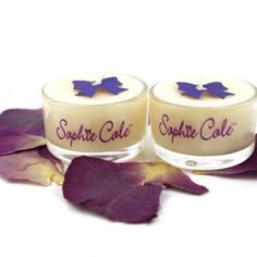 Sophie Cole scented tea-lights in beautiful glass containers and made with essential oils