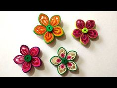 How To Make Beautiful Flower Using Paper Art Quilling - YouTube