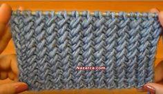 EĞİK DÖNGÜLER ÖRGÜ MODELİ VİDEOLU ANLATIMLI ÖRNEK YAPILIŞI | Nazarca.com Tote Bag, Blanket, Knitting, Crochet, Dots, Tejidos, Patrones, Tricot, Crochet Hooks