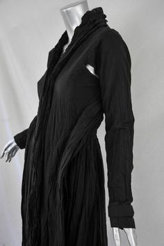 JUNYA WATANABE COMME DES GARCONS Womens Black Cotton V-Neck Shift Shirt-Dress