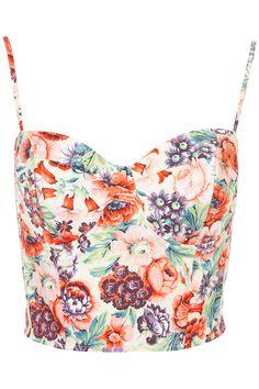 rose print corset