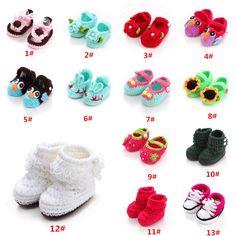 New Handmade Baby Infant Boy Girl Crochet Knit Socks Crib Shoes Sandal Slippers #Unbranded #WalkingShoes