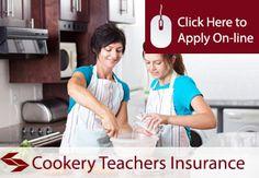 self employed cookery teachers liability insurance