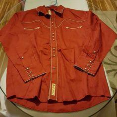 Shirt Men's western shirt Larry Mahan Cowboy Collection Tops Button Down Shirts