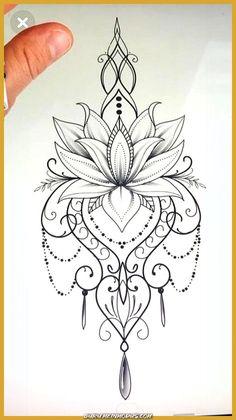 30 Stunning Lotus Flower Tattoo Ideas in lotus flower drawing Lotus Flower Mandala Drawing I Like the Lotus by Itself Mandala Tattoo Design, Dotwork Tattoo Mandala, Forearm Tattoo Design, Mandala Drawing, Mandala Art, Lotus Mandala Design, Simple Mandala Tattoo, Lotus Flower Design, Sanskrit Tattoo