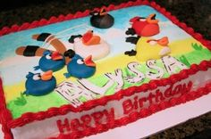 Angry Birds Sheet Cake By JeffsCreativeConfections on CakeCentral.com