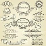 Insieme degli elementi di disegno Immagine Stock Libera da Diritti