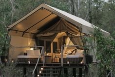 Paperbark Camp, Jervis Bay Australia- Luxury tented accommodation in a small coastal bush camp on Australia's South Coast. Spectacular coastal scenery & crystal clear water for swimming.