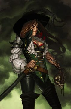 "Pirates:  #Pirates ~ ""Supervillain Self-Portrait,"" by JessiBeans, at deviantART."
