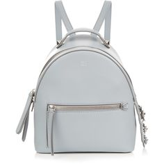 Fendi By The Way mini Flowerland backpack (€2.290) ❤ liked on Polyvore featuring bags, backpacks, accessories, light blue, fendi, mini backpack, clear zipper bags, clear backpacks and zip bag