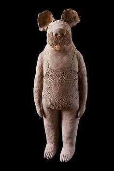 Sophie Favre Paper Mache Sculpture, Sculptures Céramiques, Sculpture Art, Sculpture Ideas, Ceramic Animals, Clay Animals, Ceramic Art, Clay Figures, Wire Art