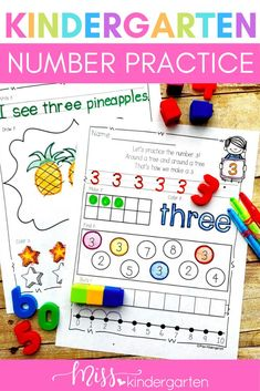 Practicing numbers can be fun with these cute and fun printable worksheets! Students will love using the images to create numbers 1-10 and even teen numbers! Use them in math centers or to start the day with morning work! They are also great for homework.