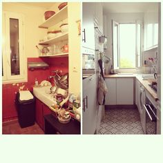 Appartment in Paris. By Glam Design. Kitchen Cabinets, Paris, Interior Design, Home Decor, Nest Design, Montmartre Paris, Decoration Home, Home Interior Design, Room Decor