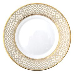Classic Party Rentals, Gold Marcella Plate 6""