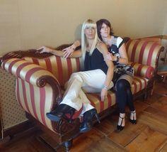 Autore, la bionda Elena, e scrittore #oltreilmiodestino, albergo storico a Varallo Sesia. Un tempo vi è per vivere, uno per narrare, uno per ascoltare...
