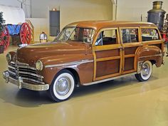 1949 plymouth | woody vin 12196292 mileage 9292 exterior color brown wood interior ...