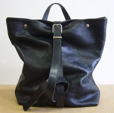 'Steve Mono'  Leather bags & other goods for men & women made in Spain -Jimmy handbag & back-pack with adjustable shoulder strap calf leather lined in cott-pol