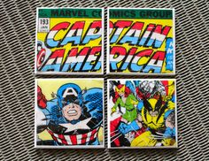 Hey, I found this really awesome Etsy listing at https://www.etsy.com/listing/215298861/captain-america-coasters-comic-book