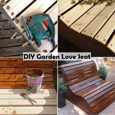 DIY Garden Love Seat   http://www.diyideasbyyou.com/diy-garden-love-seat/