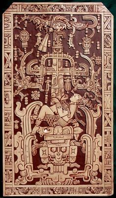 Palenque Image is an ancient Mexican artefact. It was the lid of sarcophagus found in a pre-Columbian temple in Palenque. This coffin cover has an elaborate design. Aliens And Ufos, Ancient Aliens, Ancient History, European History, American History, Native American, Objets Antiques, Alien Theories, Mesoamerican